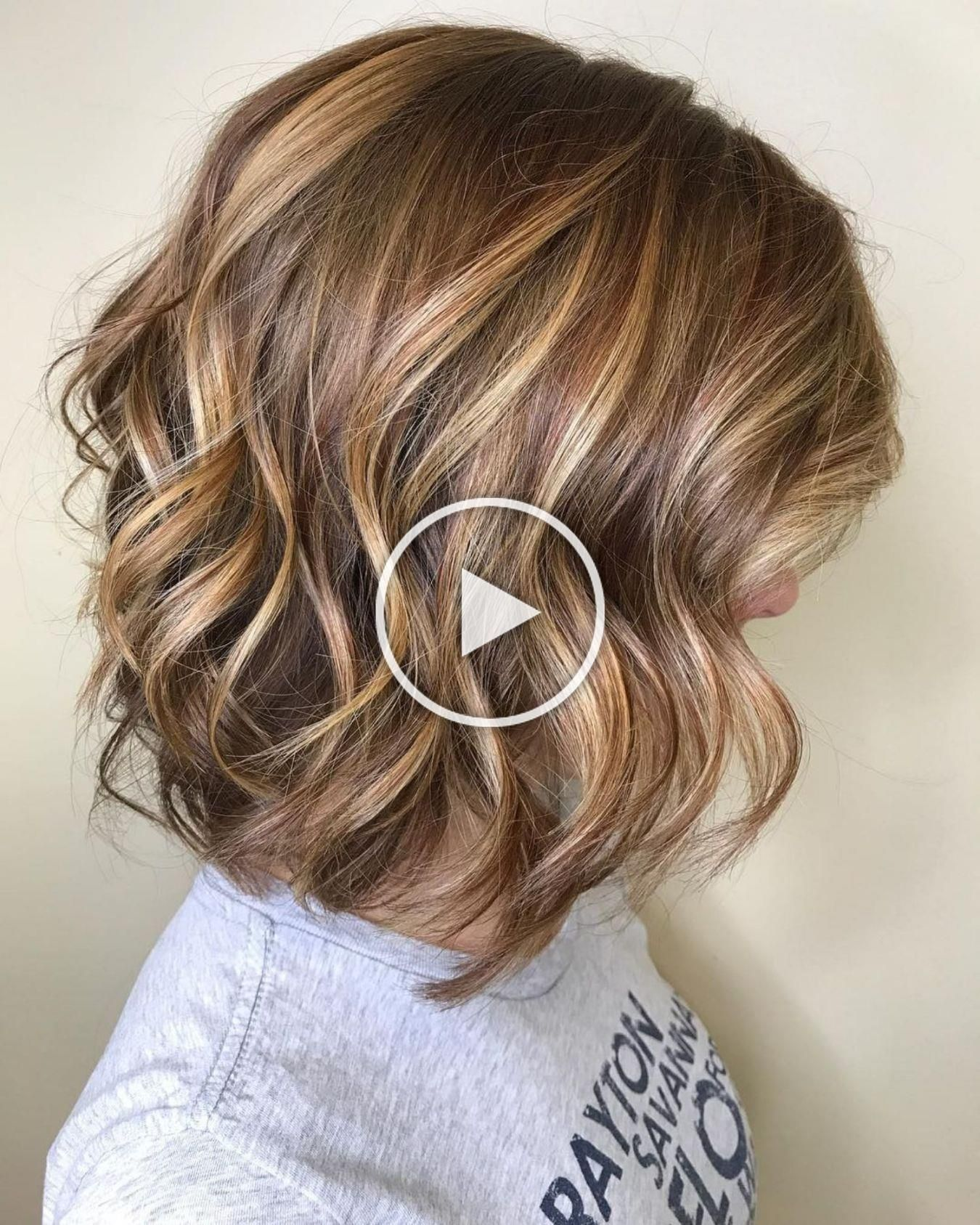 Chocolate Bob with Golden Blonde Highlights