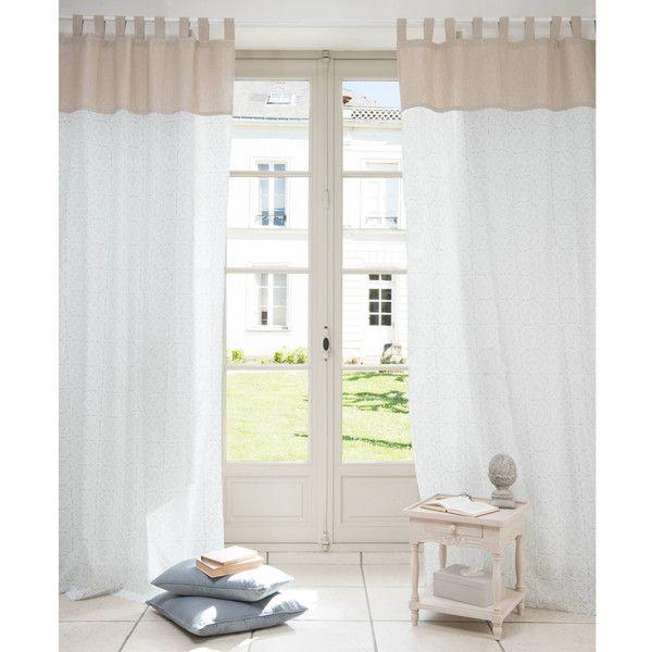 Rideau en coton blanc/beige 105 x ... | Décoration intérieure ...