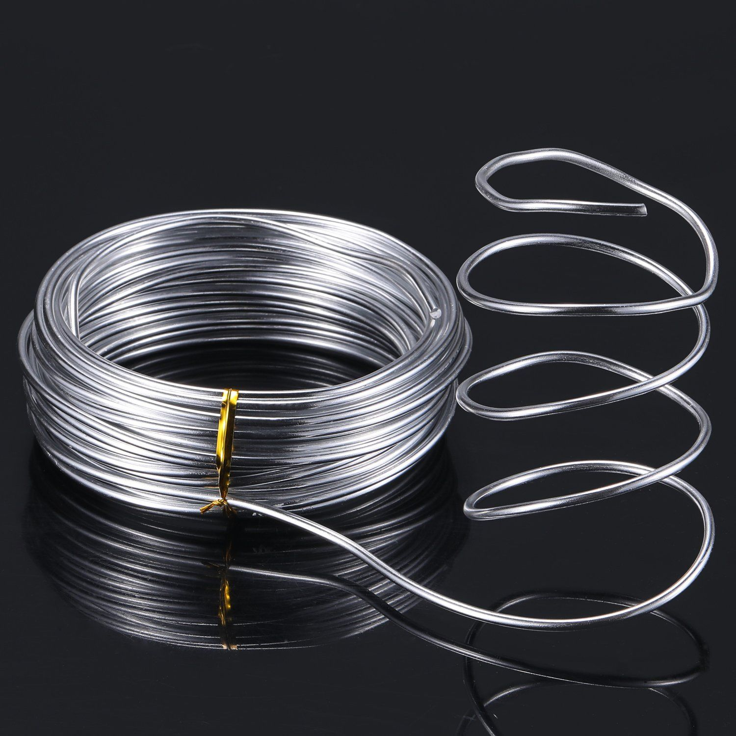 32 8 Feet Copper Aluminum Wire Bendable Metal Craft Wire For Making Dolls Skeleton Diy Crafts Silver 3 Mm Thickness Metal Crafts Aluminum Jewelry Bendable