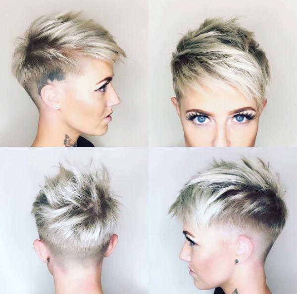 4 Kurz Blond Pixie Mit Side Cut Frisuren Hair Short Hair Styles