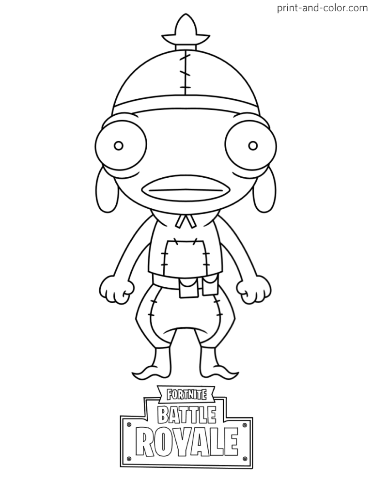 Fortnite Battle Royale Coloring Page Fishstick Chibi Skin Season 8 Cartoon Coloring Pages Coloring Pages For Kids Coloring Pages For Boys