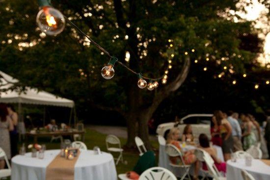 Diy Red Pink Bbq Picnic Maryland Wedding Reception Cantina Lighting 550x366 Lauren Justins