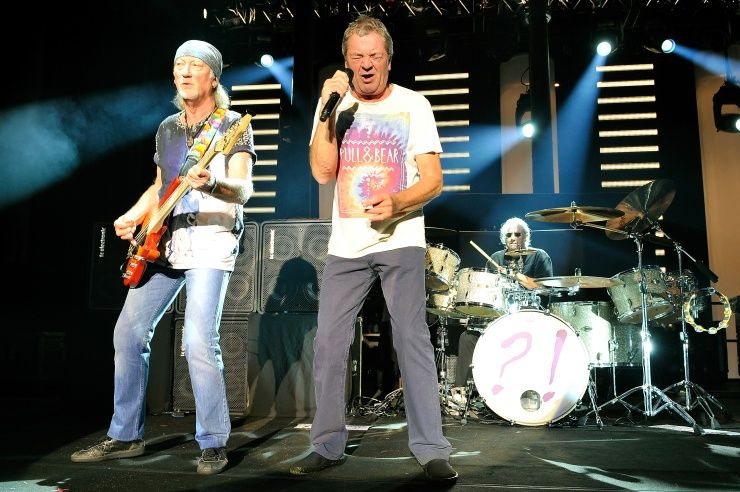 Diggin' deep. Rock and Roll Hall of Fame nominee Deep Purple's Roger Glover and Ian Gillan dig in for a performance on Oct. 16 in London