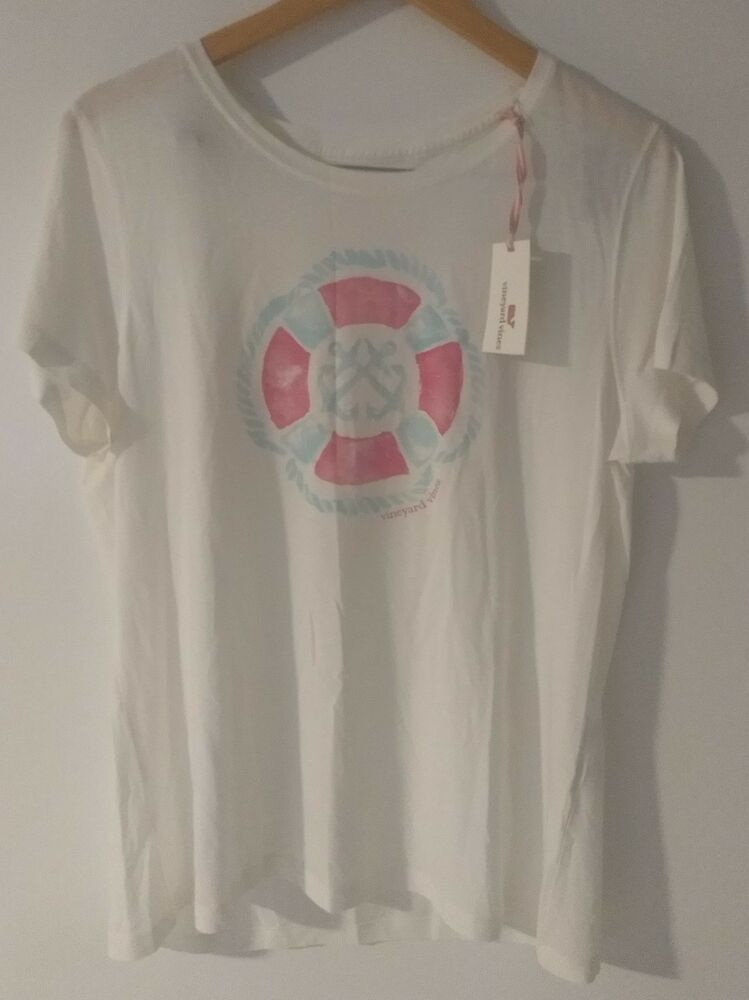 f4b31450b Vineyard Vines Women's SS Graphic Tee Life Buoy Size Large New With Tags  #affilink