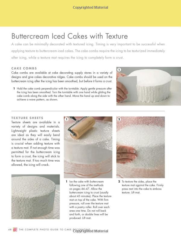 Cakes With A Texture The Complete Photo Guide To Cake Decorating 9781589236691 Autumn Carpenter Books Cake Decorating Fall Cakes Ice Cake