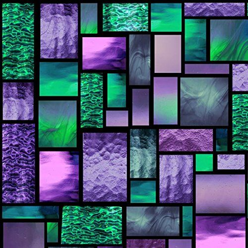 Amazon Com 12 X 12 Precious Zephyr Geometric Pattern Stained Glass Window Film Static C Stained Glass Window Film Stained Glass Church Stained Glass Cookies