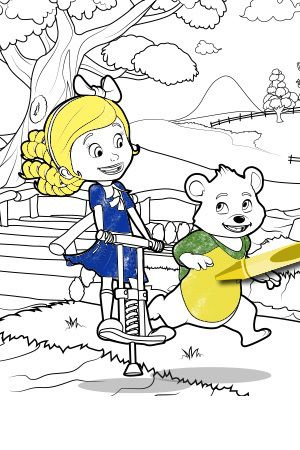 Goldie amp Bear Coloring Page