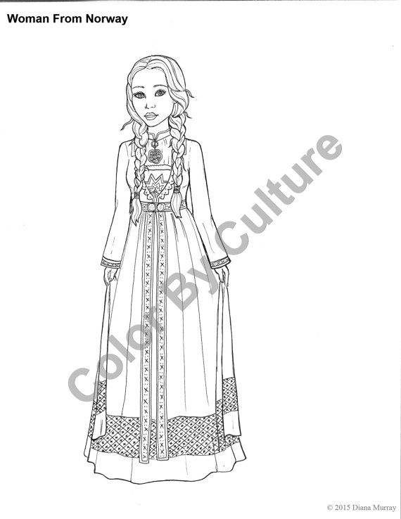 fashion coloring book printable around the world coloring pages volume 2 cultural coloring - Fashion Coloring Pages 2