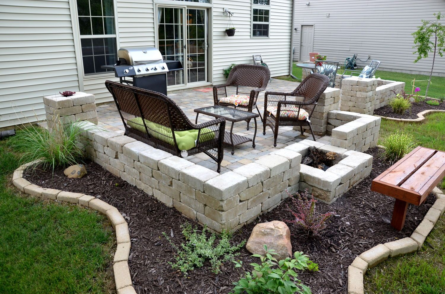 Result Extend Concrete Patio With Pavers Curb