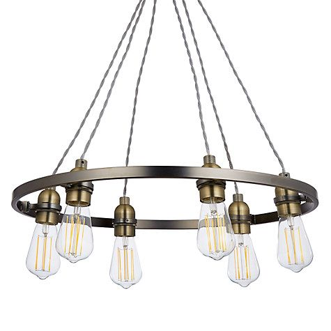 huge discount ac13b 4c92c John Lewis & Partners Bistro Hoop Pendant Ceiling Light, 6 ...