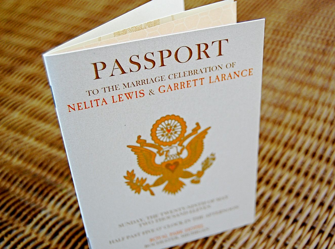 Passport Wedding Programs