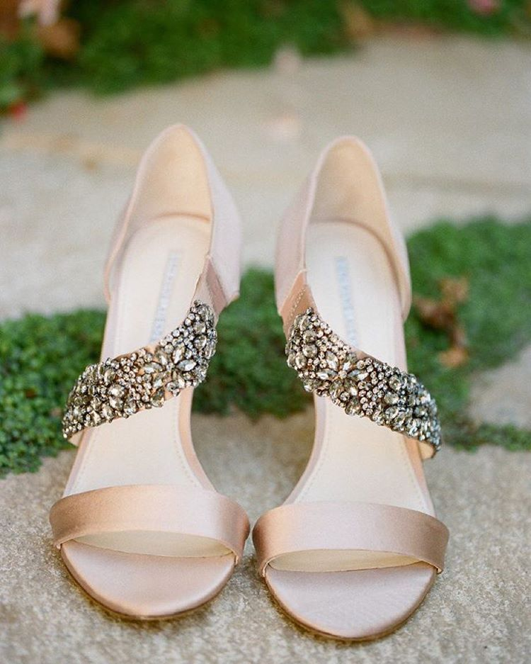 A nude shoe with bling is the perfect mix.  verawang  designer  bridalshoes 14a847cf2f2f