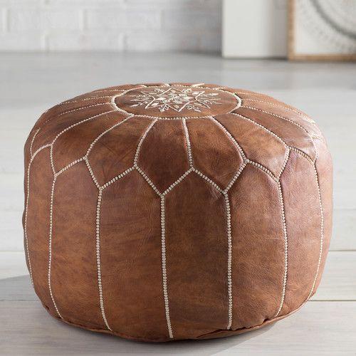 Found it at AllModern - Soukaina Pouf Leather Ottoman | Furniture + ...