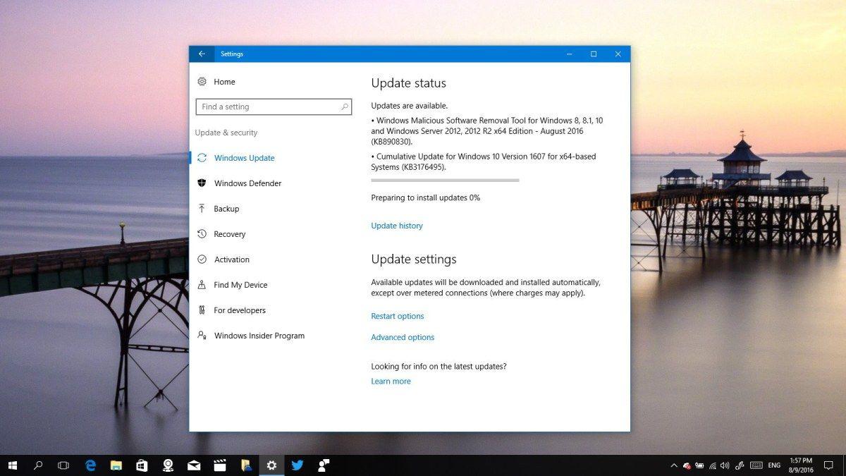 Cumulative Update Kb3176495 Arrives To Windows 10 Version 1607 Windows 10 Versions Windows 10 Windows
