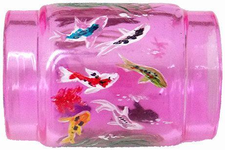 Custom Order, Hand Painted Vape Tank Pink Glass Fish Jelly Fish Octopus Custom Vape Tanks Hand Painted Vape Tanks Hand Painted Glass (painted by Helen Krupenina)