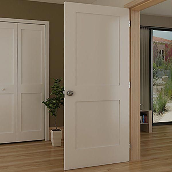 Shaker panel wood slab interior door are made from solid core with mdf face for  smooth finish doors will give any room modern clean also rh pinterest