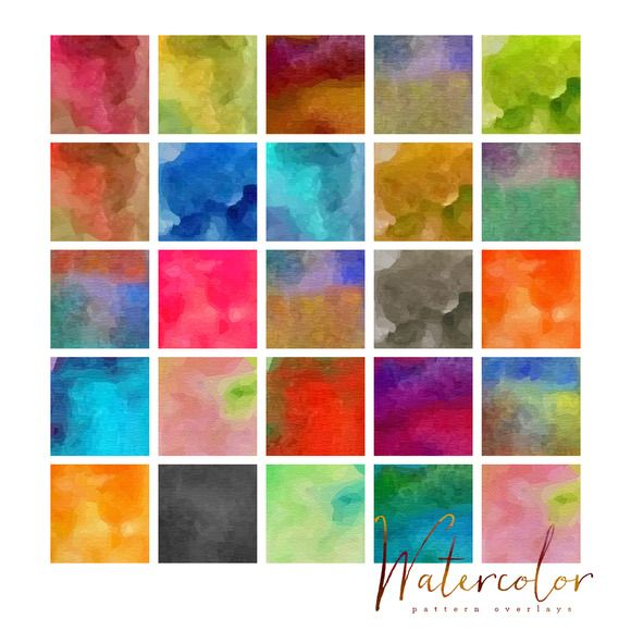 Check Out 25 Watercolor Patterns For Photoshop By Onthespotstudio