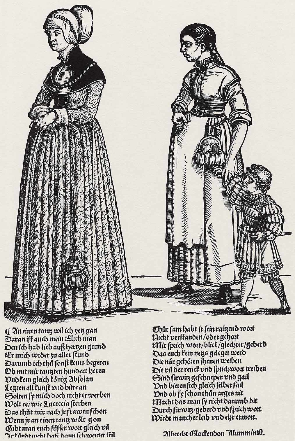 Artist: Beham, Hans Sebald, Title: Zum Tanz gehende Ehefrau, Date: ca. 1531