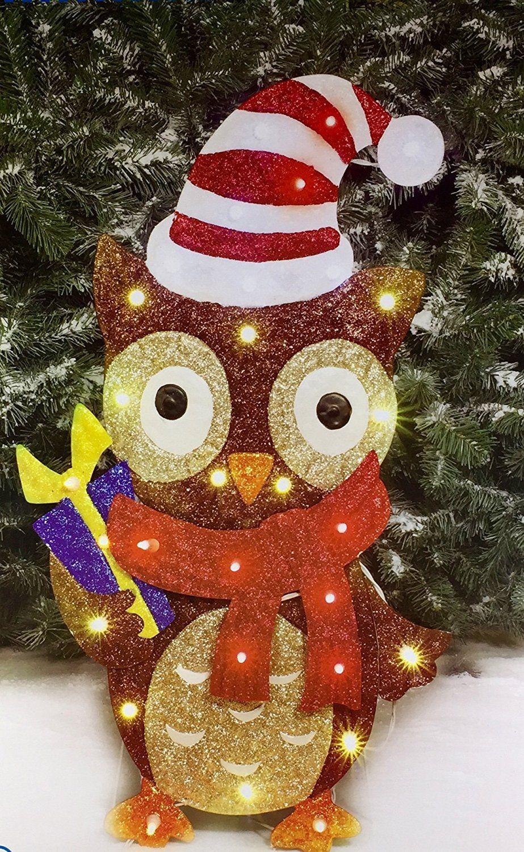 Amazon Com Holiday Time Light Up 28 Christmas Decoration Owl