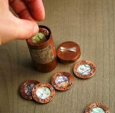 copper pipe charm bracelet....