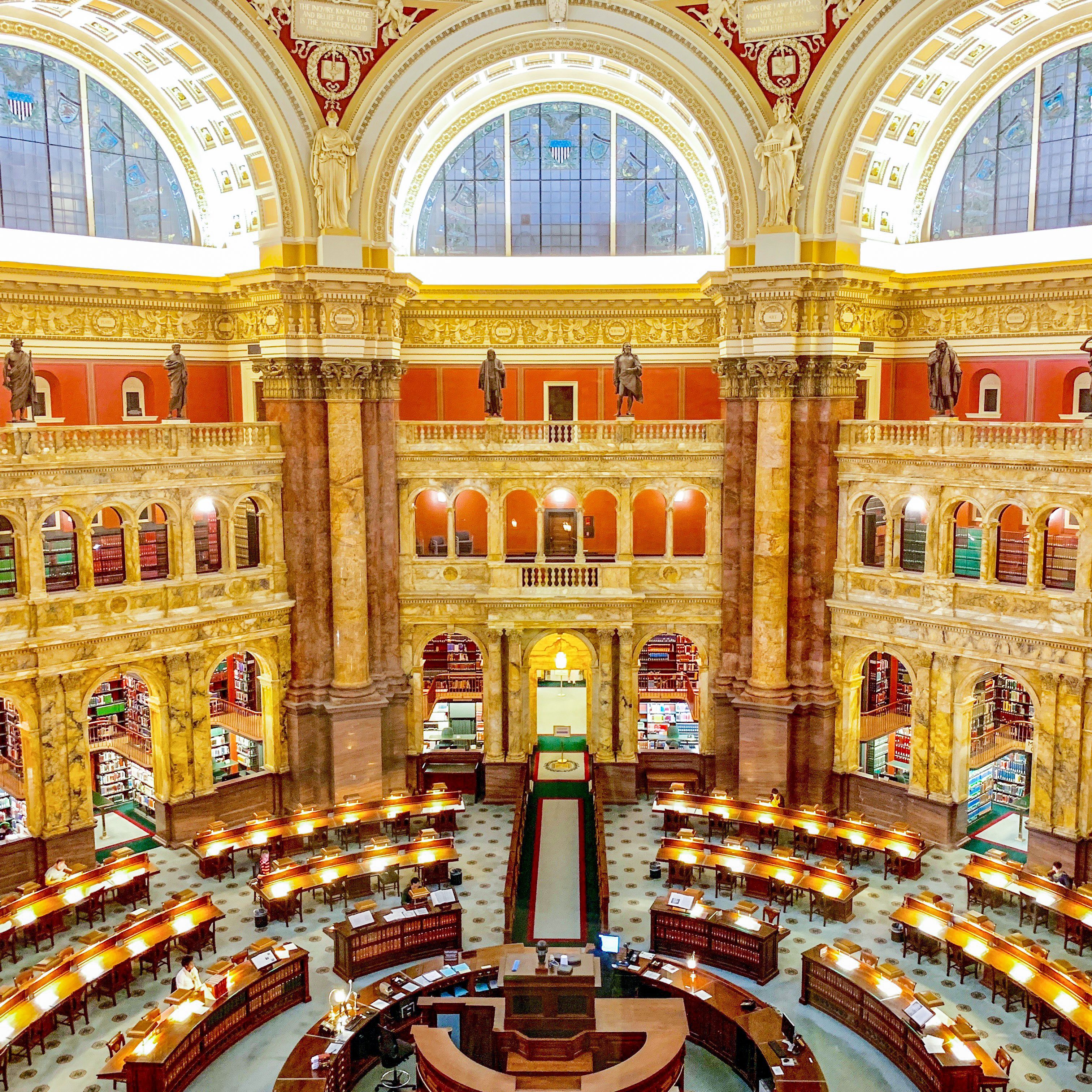 Reading Room Of The Library Of Congress S Historic Thomas Jefferson Building Washington D C Library Of Congress Reading Room Building
