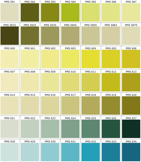 Pantone Color Chart - Pms - Screen Printing | Inspiration