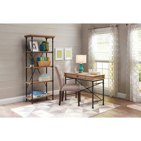 Better Homes And Gardens River Crest Shelf Bookcase Rustic Oak - Crest furniture