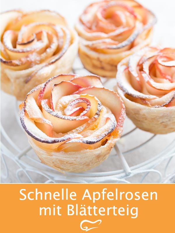 Optisch, aber auch geschmacklich machen diese Apfelrosen mit Blätterteig etwas her. Mit diesem Rezept gelingt das tolle Gericht. #apfelrosen #blätterteig #gebäck #rezept #fingerfood #snack #schnellerezepte #backen #gutekueche #recipeforpuffpastry