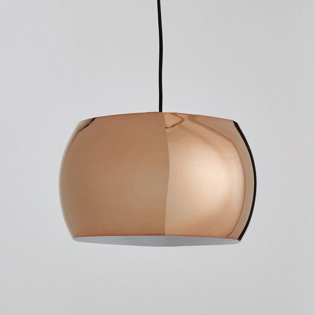 Suspension boule cuivre Elori