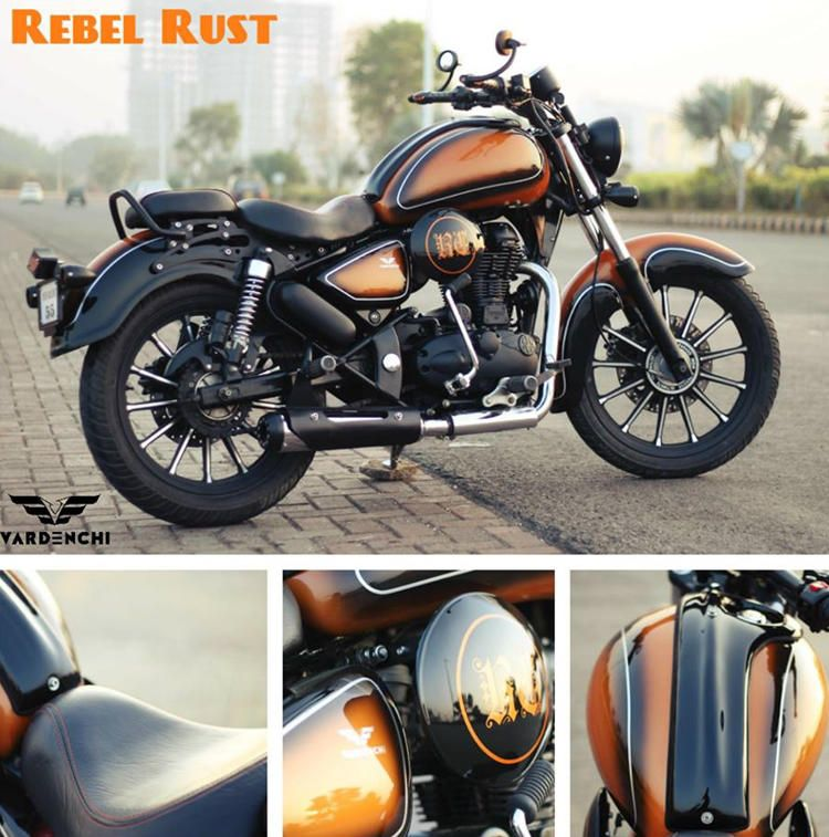 Royal Enfield Classic 350 Rebel Rust By Vardenchi Bikes Pinterest