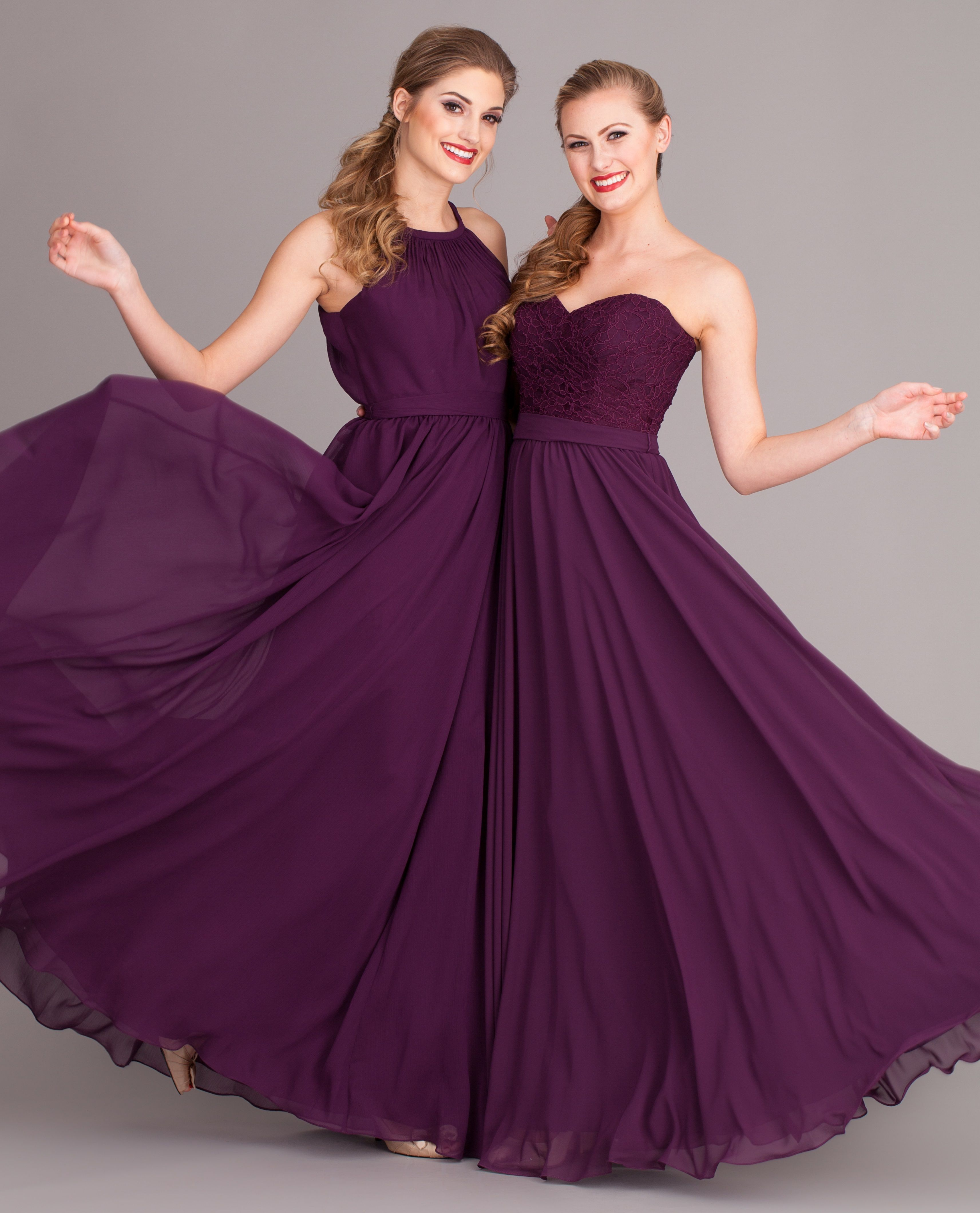 Eggplant purple is a rich and flattering bridesmaid dress color ...