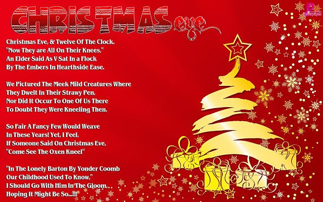Christmas eve Poem for Kids Xmas eve Poem Free Card Printable ...