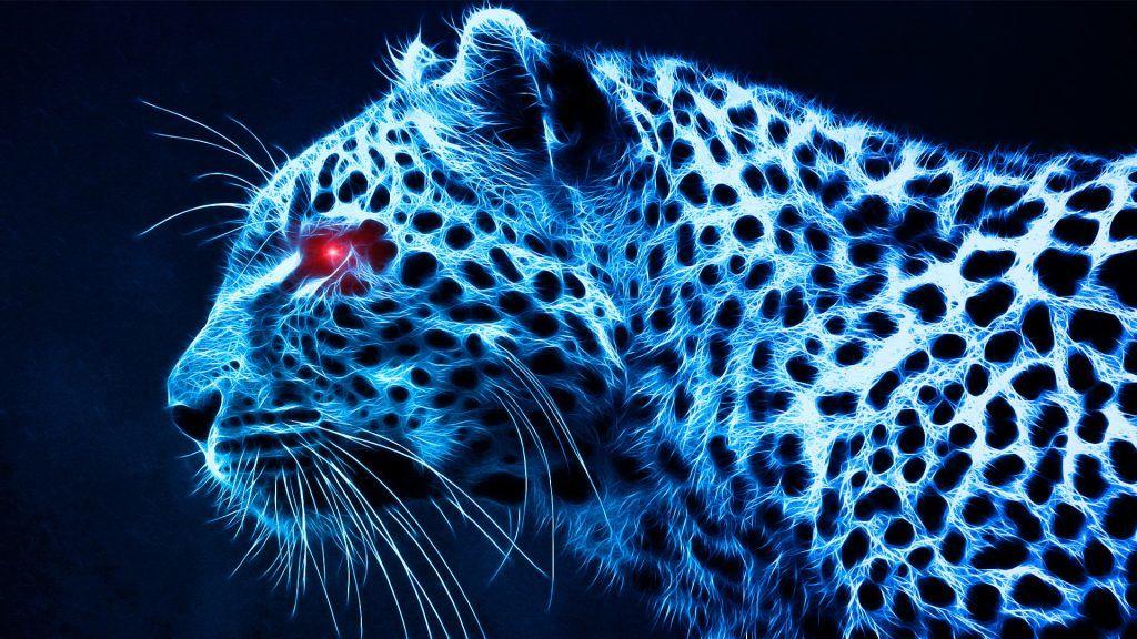 Leopard Wallpapers Hd Neon Blue Background Leopard Wallpaper Cheetah Wallpaper