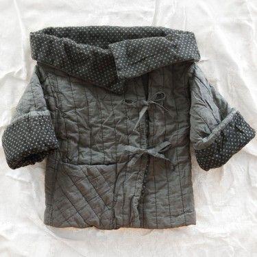 le toit de la lune organic gil jacket - steel - love the wide neck and no collar