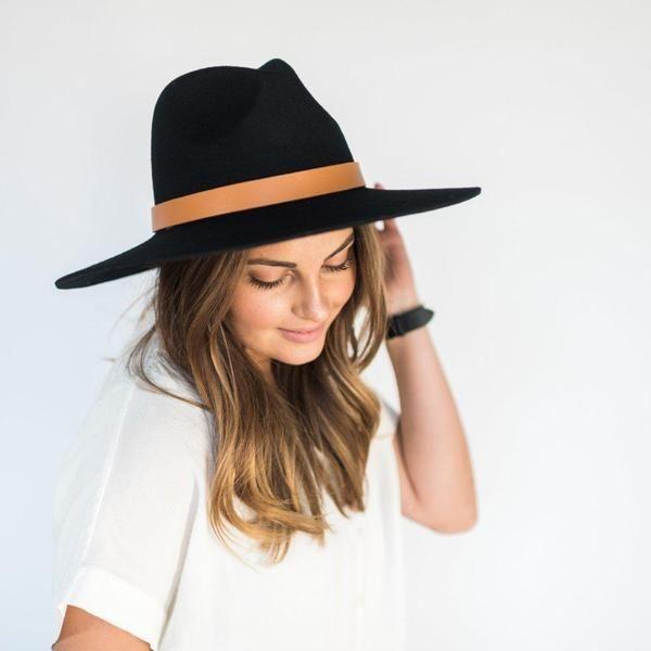 The Scottie Stiff Wide Brim Hat is a wide brim fedora with a stiff 4