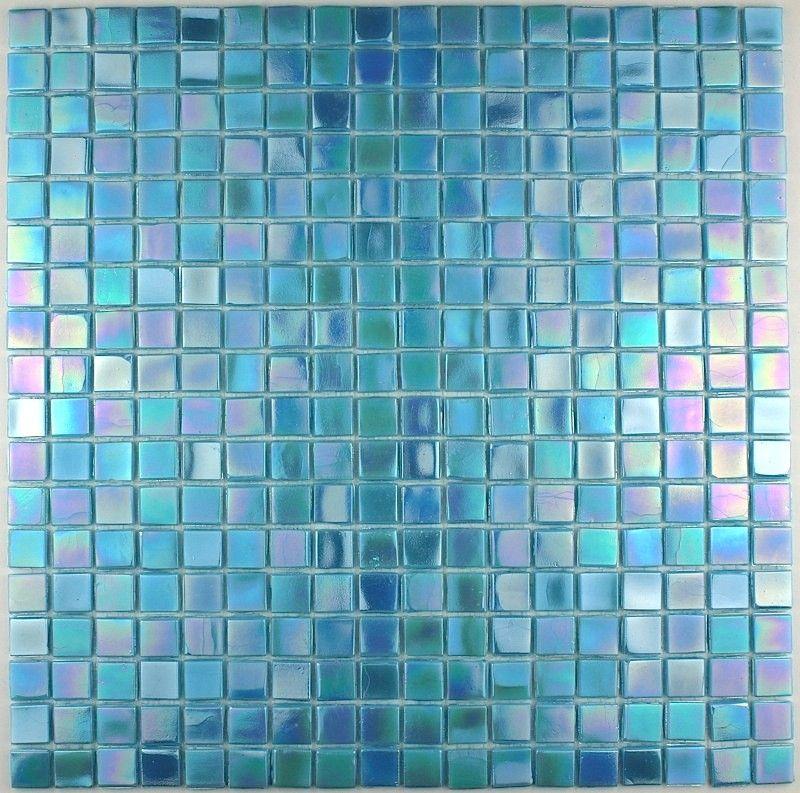 Mosaique salle de bain bleu rainbow azur Bathroom designs - salle de bain en bleu