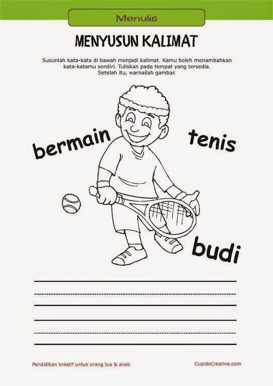 Belajar Anak Menyusun Kalimat Belajar Bahasa Belajar Menghitung