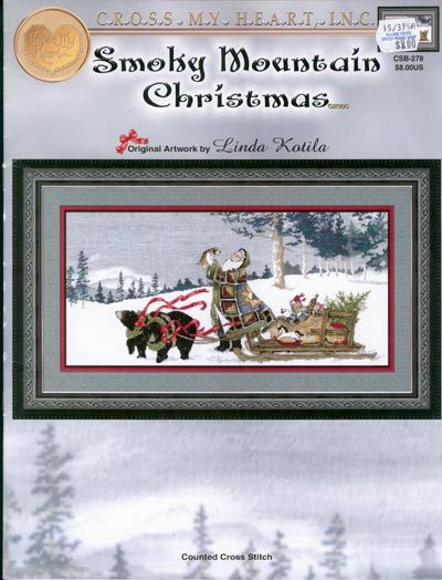 smoky mountain christmas cross stitch