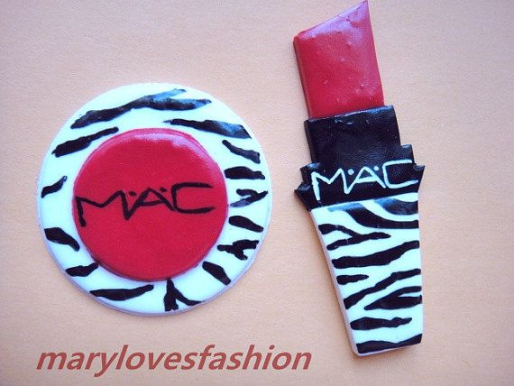 Mac cabochon polymer clay charms for design by marylovesfashion, $7.00