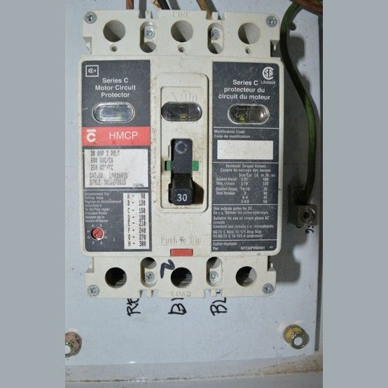 Cutler Hammmer 30 Amp 3 Pole Series C 600 Volt Adjustable Trip Quantity 1 Please Contact Us For More Information V Breakers Cutler Circuit