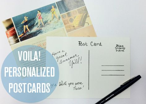 Check out these DIY postcards made from our Summer catalog spread! #DIY