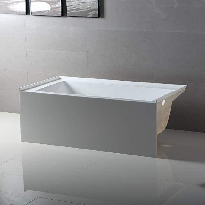 Fine Fixtures Acrylic/Fiberglass Soaking Bathtub ...