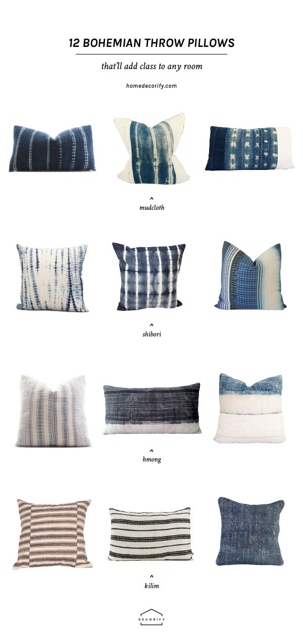 12 Bohemian Throw Pillows That Will Instantly Make Your Room