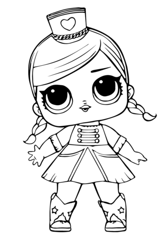 Lol Doll Majorette Coloring Page Baby Coloring Pages Cute Coloring Pages Unicorn Coloring Pages
