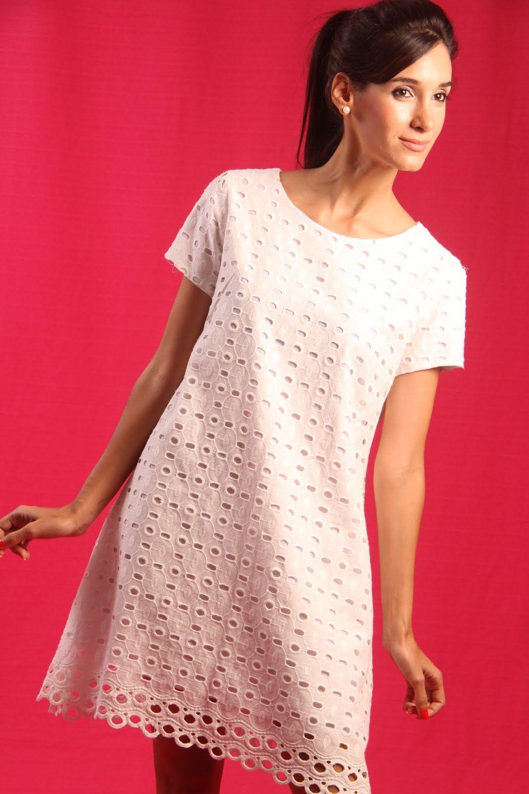 fa109190d vestido de lese - Pesquisa Google Modelos De Vestidos Brancos, Vestidos De  Algodão, Vestidos