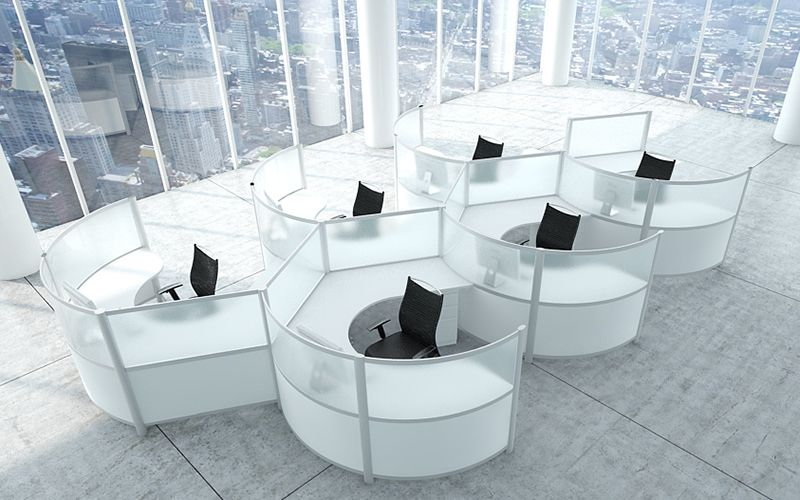 Modular office furniture modern workstations cool for Affordable modern office furniture
