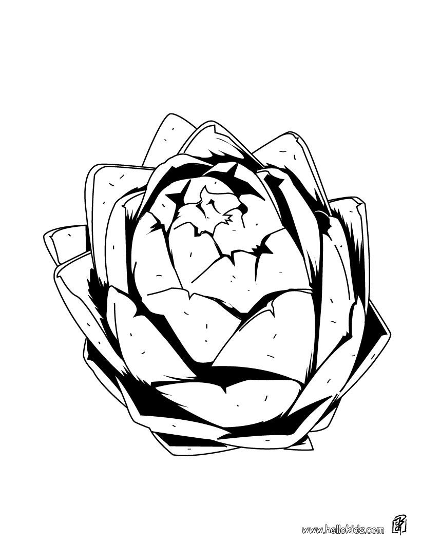 There is the Artichoke coloring page. You can print out for free ...
