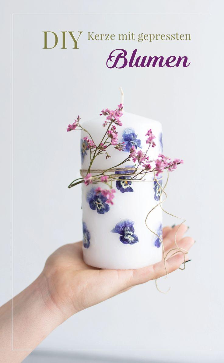 DIY Idee für den Muttertag: Blumen-Kerzen selbermachen #fleursentissu