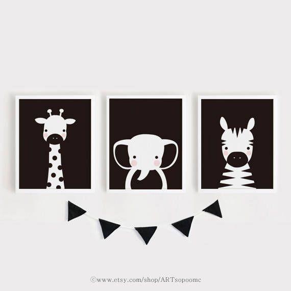 Printable Nursery Art Digital Prints Baby Animal