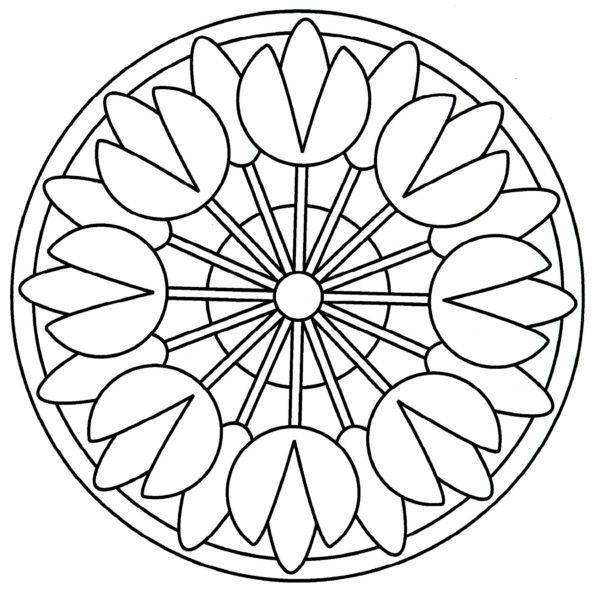 196 Dibujos de Mandalas para Colorear fáciles y difíciles A Glass
